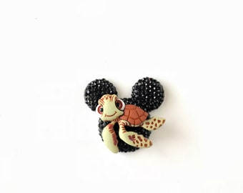 Squirt Pin, Mickey Head Pin, Little Squirt Turtle Pin, Badge, Brooch, Finding Nemo Brooch, Disney jewelry, Dapper Day Jewelry, Disney Cruise