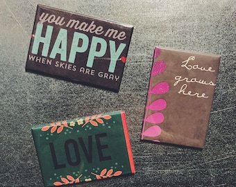 Love Grows Here Magnet Set