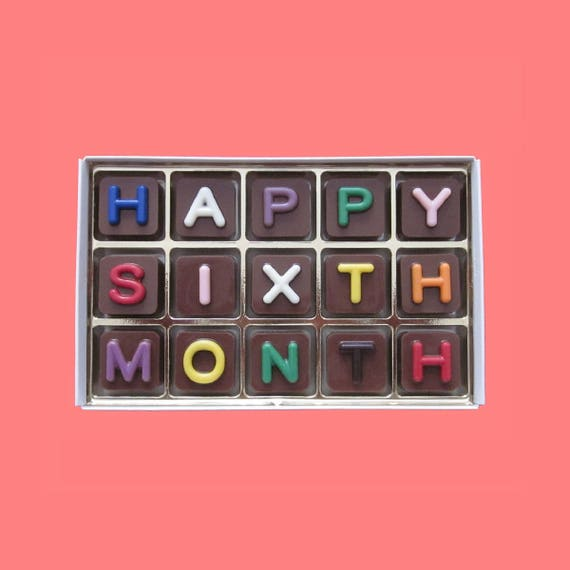 6 Month Anniversary Gift for Men Happy 6th Sixth Month Dating