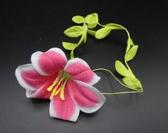 Pink trumpet flowers etsy pink trumpet flower silk flowers artificial flowers fake flowers wedding flowers mightylinksfo