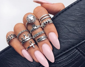 Baby Pink Stiletto Glue On Nails 20 Pieces