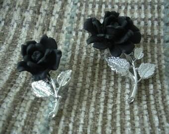 vintage jet rose pins