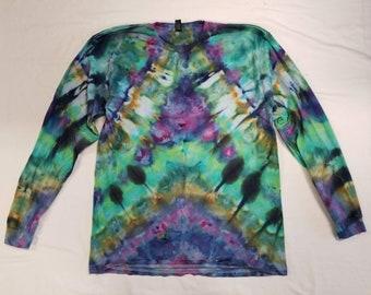 Funky Tie Dye Men's Longsleeve  Shirt size Extra Large S492