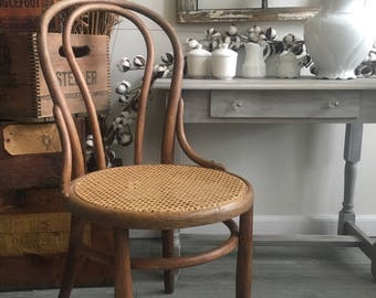 bentwood bistro chair. Bentwood Cane Chair With Diagonal Weave ~ Round Ice Cream Cafe Bistro