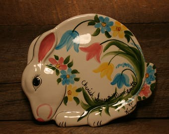 Spring bunny plate