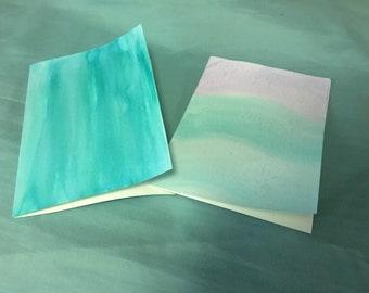 Pastel Teal Cards