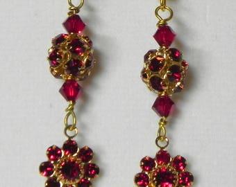Swarovski Flower Drop Earrings