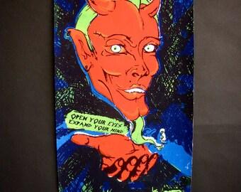 Wall Art, Original Silkscreen Art Poster, The Devil Print