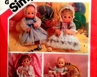 Vintage Baby doll dress pattern Simplicity dress pattern 5615 Tiny Tears, Dy Dee doll dress pattern 33-45.5cm dolls vintage sewing pattern