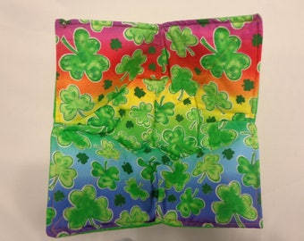 Rainbow Shamrocks -  Quilted Bowl Cozy
