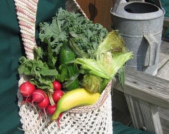 Végétalien sac cabas en coton maille pour agriculteurs marché, plage, Gym