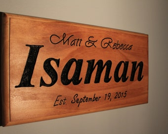 A great wedding or anniversary gift.  custom made sign with names and dates.  5 year anniversary  Wood, Valentines Day Gift, Husband