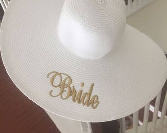 Bride Floppy Sun Hat