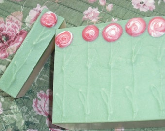 Champagne and Roses Soap / Rose Soap / Refreshing Crisp Bubbly Scent / Handmade Cold Process Soap