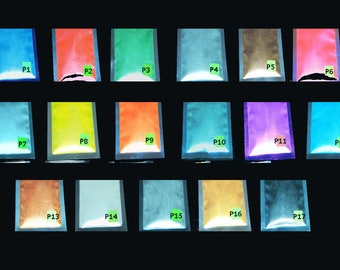 Pearl Pigment Powder suitable for airbrush, car, paint, cosmetic. Select a colour.