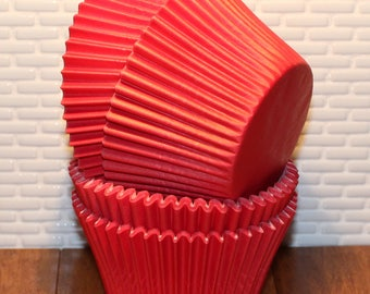 NEW - Jumbo Red Heavy Duty Cupcake Liners (Qty 24) Jumbo Red Heavy Duty Baking Cups, Jumbo Red Cupcake Liners, Jumbo Red Baking Cups
