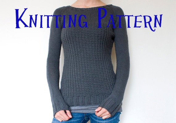 Pdf Knitting Pattern Graphite Pullover Sweater Knitting Pattern