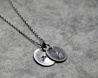 Personalized mothers day jewelry, Initial mothers day necklace Sterling silver, charm initial jewelry