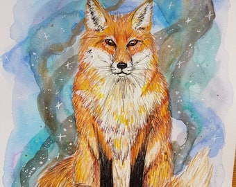 Magic fox painting