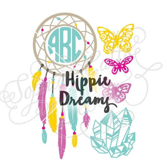 Hippie Dreams Dreamcatcher Monogram Svg Amp Dxf Png Digital