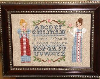 A Regency Friendship Sampler / Jane Austen / A Cross Stitch Chart