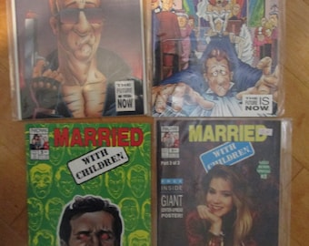 Lot of 4 Married With Children Comics from the 80s. Mint!