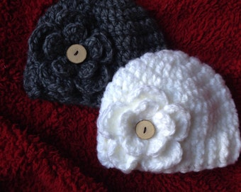 Chunky Winter Baby Girl Hat
