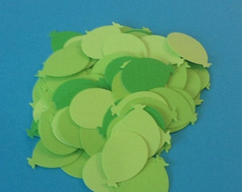 Shades of Green Balloon Confetti - Ballon Diecuts 100 Count