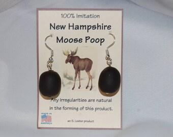 New Hampshire Moose Poop Earrings 100% Imitation