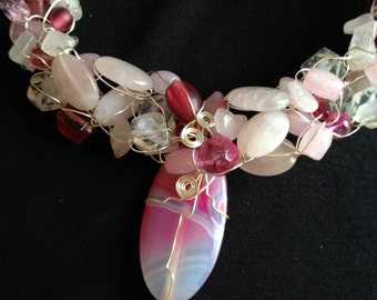 Pink Perfection Necklace with Pendant