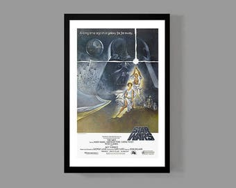 Star Wars : Movie Poster - A New Hope Reproduction Print; Luke Skywalker, Han Solo, Darth Vader, Princess Leia