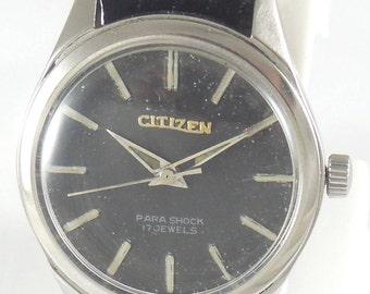 Vintage Original CITIZEN 17J Watch  Hand Winding Swiss Running #Ew-63