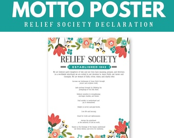 LDS Relief Society Declaration Poster