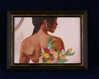 Miniature Watercolour Painting in 1:12 Scale - #6 Bride