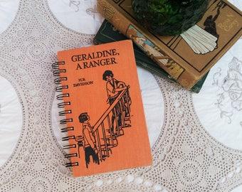 Geraldine, A Ranger, Recycled Book Journal, Notebook