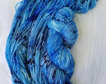 Sapphire, Aran/Worsted, 100% Superwash Merino, 181 yards/100g, 19.5 micron, hand dyed yarn, indie dyed yarn