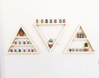 Single Triangle Shelf, 3 Shelf Options