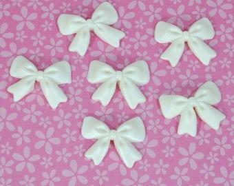 6 PCS Edible Fondant Sugar Bows/ Edible Mini Bows/ Sugar Bows/ Edible Bows/ Bow Cupcake Toppers