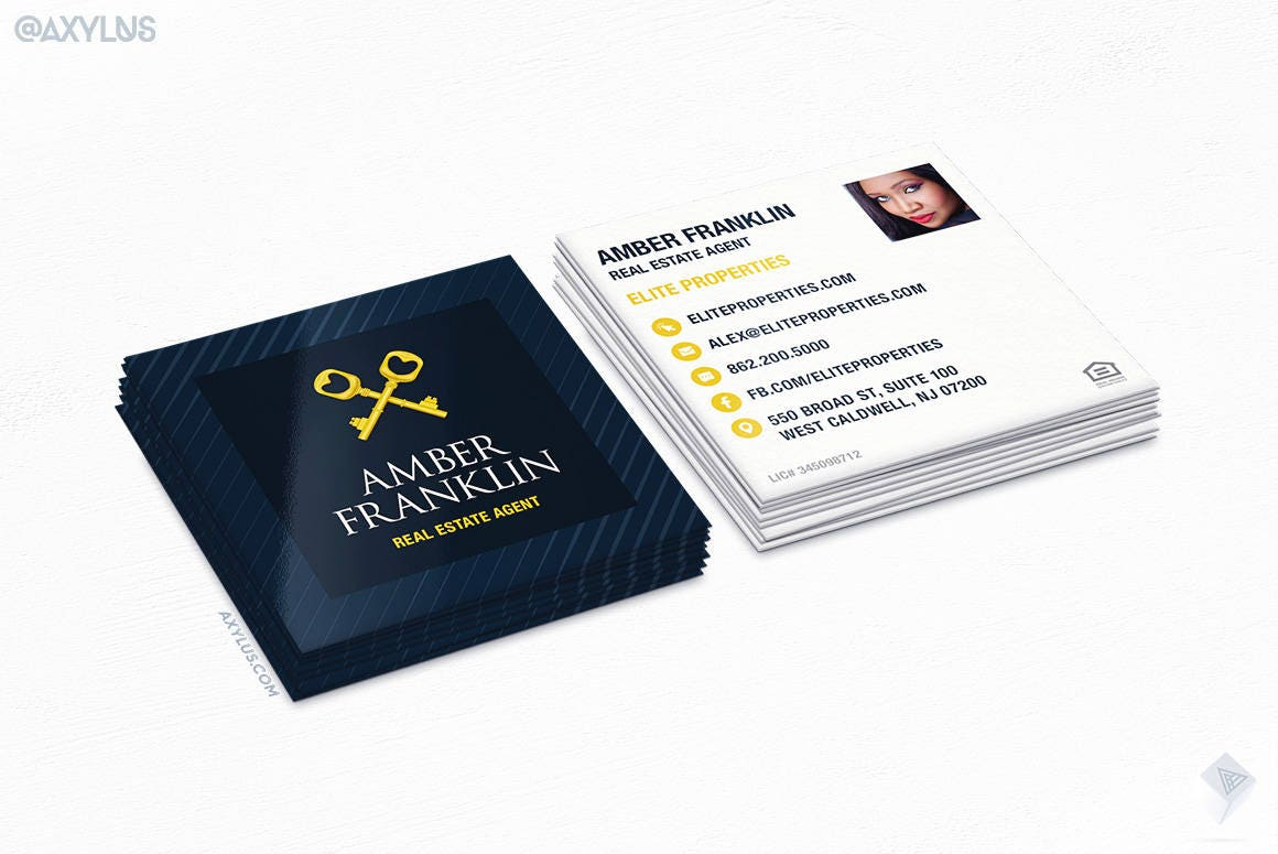 Nj Real Estate Business Cards Choice Image - Card Design And Card ...