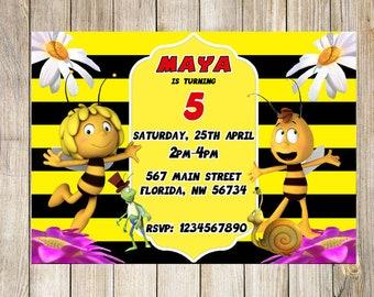 Maya the bee Birthday Invitation