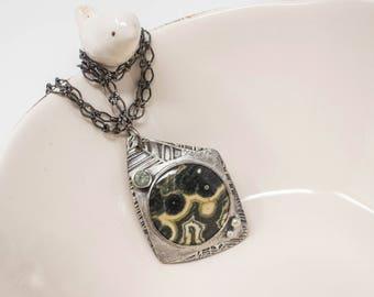 Ocean Jasper Fine Silver Necklace - GD306