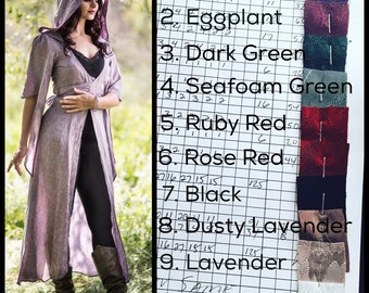 "Last Sizes Left: The ""Limited Edition"" The Nomad Cloak with Hood and crystals by Opal Moon Designs (Sizes S-3XL) Choose your Color"