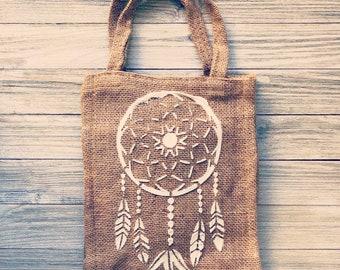 Burlap Dreamcatcher Bag