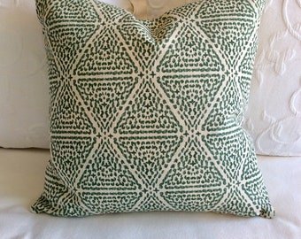 Miguel Verde green pillow cover 18x18 20x20 22x22 24x24 26x26 13x26 12x20