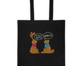 Easter Tote Bag || Funny Easter Bag || Easter basket for boys girls|| Easter jokes || Easter Bunny gift||easter basket ||bunny basket rabbit