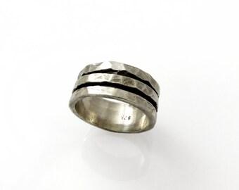 Sterling Silver spinner ring. Unisex silver spinner ring. Wide spinner ring. Men ring. gift for him, birthday gift (sr-9569-516-514)