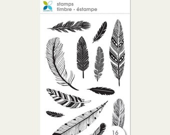 Momenta Feathers Clear Stamp, Scrapbooking, Cards, Art Journal, Planner 12/Pcs