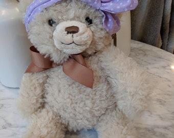 Baby Girl Headband - Polka-dot Knot - Purple