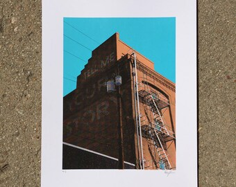 Tell Me Your Story - Ghost Sign Screenprint