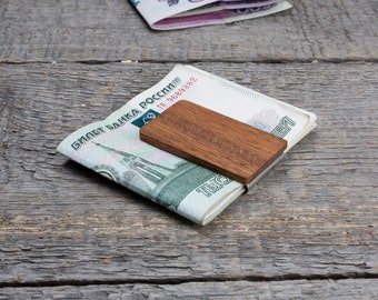 Groomsmen gift, best man gift, engraved money clip, groom gift, custom money clip, monogram money clip, wood money clip, personalized gift